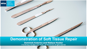 demonstration of soft tissue repair